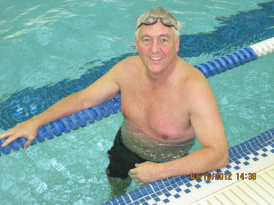 Art Luetke at Masters Swim Meet
